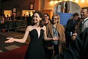 Felicity Jones on the red carpet of the 2015 SBIFF Cinema Vanguard award (Jan. 28, 2015)..