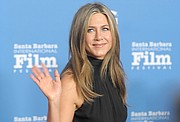 2015 SBIFF 'Montecito Award' recipient Jennifer Aniston greets the crowd, takes questions from media, and poses on the red carpet at the Arlington Theatre. (Jan. 30, 2015)