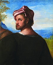 """Titian (Tiziano Vecellio), """"Head of a Man,"""" c. 1508-10. Oil on canvas, 21.2 x 17.2 inches. Purchased by Glasgow Museums, 1971 (3283). © CSG CIC Glasgow Museums Collection. Courtesy American Federation of Arts."""