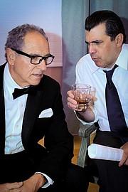<b>NOT CROOKS:</b> Laezer Schlomkowitz (left) and Michael Bernard star in <i>Nixon's Nixon</i>.