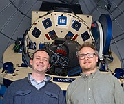 Postdoctoral researchers Curtis McCully and Kasper Schmidt