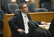 Prosecutor Brian Cota (pictured) at Freddy Pachon's preliminary hearing for allegedly embezzling from Santa Barbara Select Staffing (Mar. 13, 2015)