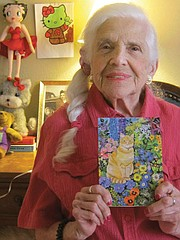 <b>MATERNAL MEMORIES:</b> The author remembers her mother, Esther Carbone (pictured here on her 90th birthday) what she taught her and what she left.