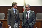 City Administrator Paul Casey (left) and City Attorney Ariel Calonne