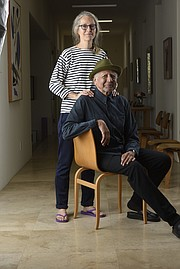<b>DYNAMIC DUO: </b> Artist Dorothy Darr is Charles Lloyd's longtime partner and business manager and recently coproduced and codirected a biographical documentary about Lloyd called <i>Arrows into Infinity</i>. She shot the cover photo for his latest album, <i>Wild Man Dance</i>, in the Santa Barbara area.