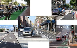 A few ways to separate bike lanes from car traffic