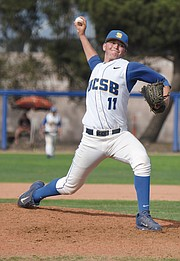 <b>MOUND MASTERS:</b>  Just one of the Gauchos' powerful pitchers, UCSB freshman reliever Chris Clements shut down UC Irvine in the 9th, 10th, and 11th innings last Saturday. They play UC Riverside in the last regular season series this weekend and then pursue postseason dreams.