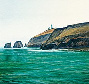 "<b>ISLAND HOME:</b>  Strong's ""View of Anacapa"" is another sketch in the exhibit."