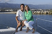 <b>THEY'RE ON A BOAT:</b>  Foodies craving ocean-top dining can now join Sherri and Arthur McNary on a culinary cruise aboard their <i>Green Flash</i> catamaran, which operates out of the Santa Barbara Harbor.
