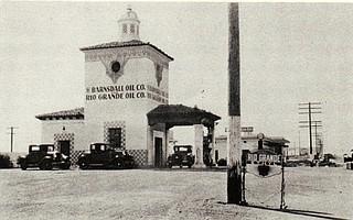 Historic photo of the Barnsdall-Rio Grande station
