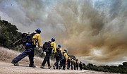 Santa Barbara County Firefighters respond to the Mesa Fire in Lompoc (June 29, 2015)