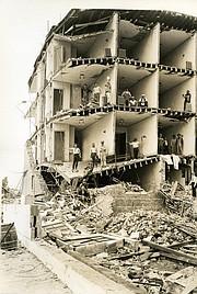 Aftermath of Santa Barbara's 1925 earthquake