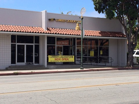 Lumber Liquidators store opened on Milpas Street.