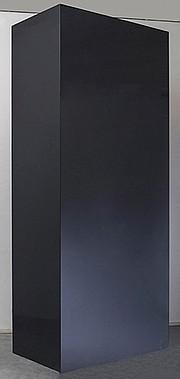"John McCracken's massive resin and plywood sculpture, ""Monolith,"""
