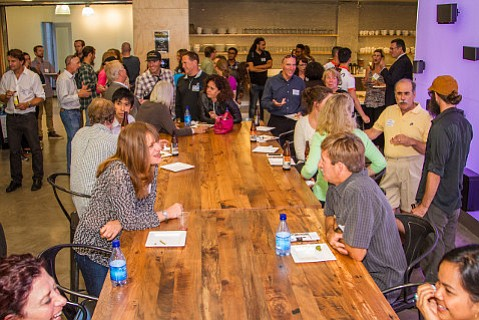 Over 100 people celebrated bicycling friendly businesses at Sonos in May.