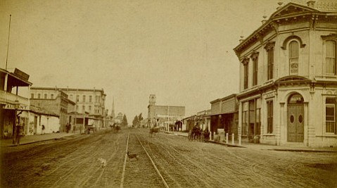 The 800 block of State Street in the latter half of 1880s