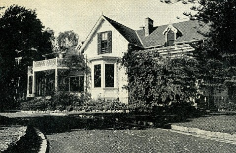 The main house at La Patera Ranch was built of redwood floated ashore by W. W. Stow.