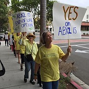 Marchers in support of right-to-die bill ABX215