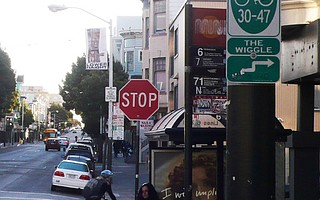 Bicyclists in San Francisco's The Wiggle area question the need for cyclists to stop at all stop signs.