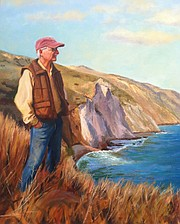 <b>ISLAND LIFE:</b>  Lyndal Laughrin overlooks Yellow Banks in this portrait by Holli Harmon.