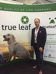 True Leaf rep Darcy Bomford explained cannabis benefits for dogs.