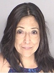 The booking photo of Paula Lopez after she was arrested for DUI and assaulting a peace officer on September 6, 2015.