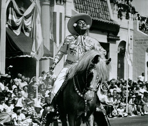 """A vaudeville and Broadway star, Leo Carrillo adopted Santa Barbara as his """"ancestral home"""" and frequently rode in the Fiesta parade."""