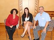 (L to R) Mayor Helene Schneider, Santa Barbara Hillel Student President Danielle Cohen, and Hillel's Executive Director and Rabbi Evan Goodman