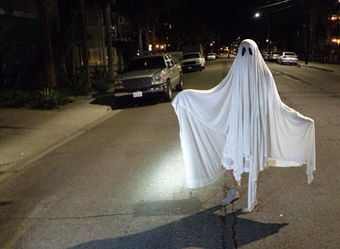 Isla Vista's streets were relatively empty during Halloween 2014.