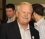 Randy Rowse celebrates election night at Paradise Cafe (Nov. 3, 2015)