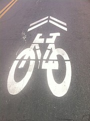 Sharrows on San Andres Street haven't made it safer for cyclists.