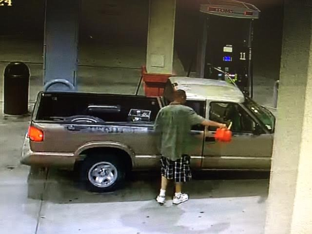 A deputy talked down a 48-year-old Santa Maria resident who had drenched himself and his truck in gasoline Sunday evening at a Buellton gas station.