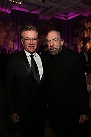 Dream Foundation supporter and actor Alan Thicke (left) and John Paul DeJoria (right), co-founding partner of the Dreams for Veterans Program and CEO and founder of The Patrón Spirits Company and John Paul Mitchell Systems.