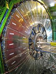 Scientists are increasing sensitivity and upgrading electronics in the collider's Compact Muon Solenoid detector.