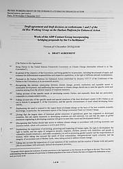 The latest draft version of a hopeful Paris Agreement