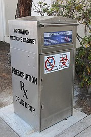 One of Santa Barbara County's eight newly renovated prescription medicine drop-boxes.