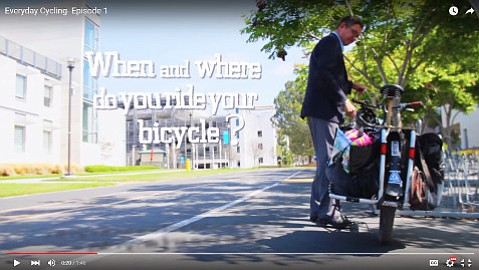 Santa Barbara Bicycle Coalition creates videos of people who opt to pedal rather than drive.