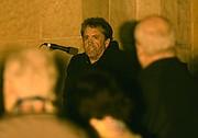 "David ""Hopper"" Hopkins speaks to the crowd."