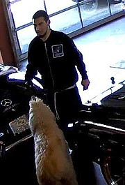 The man suspected of stealing a black Volkswagen Cabrio with New York license plates from Milpas Motors last Tuesday.