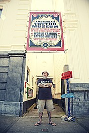 <strong>FOR THE AGES:</strong>  Henk Schiffmacher, known as Hanky Panky, is pictured in front of his Amsterdam Tattoo Museum.