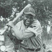<strong>BROKE BARRIERS:</strong>  Halley Harding, the sportswriter who integrated professional football, also played baseball in the Negro leagues as a young man.