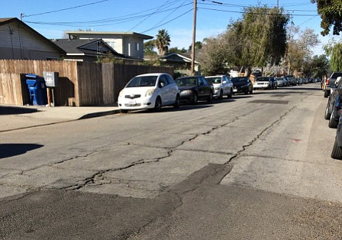 Like many areas of the county, Isla Vista's roads deteriorate faster than they can be repaired.