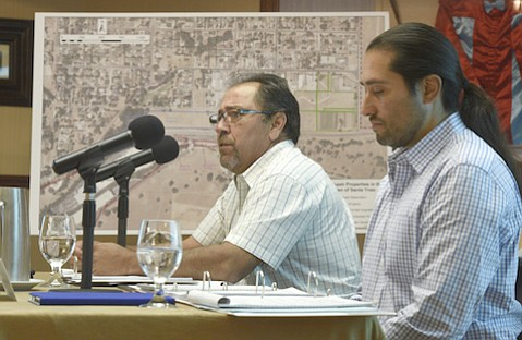Vincent Armenta (left), chairman of the Santa Ynez Band of Chumash Indians, steps down to attend culinary school; Kenneth Kahn (right) is current vice chairman.