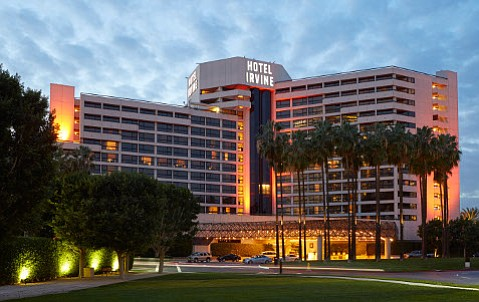 The Hotel Irvine has views that stretch from the Cleveland National Forest on the east to Newport Beach to the south.