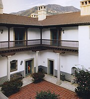 Emmor J. Miley House II, Montecito, patio looking northwest.
