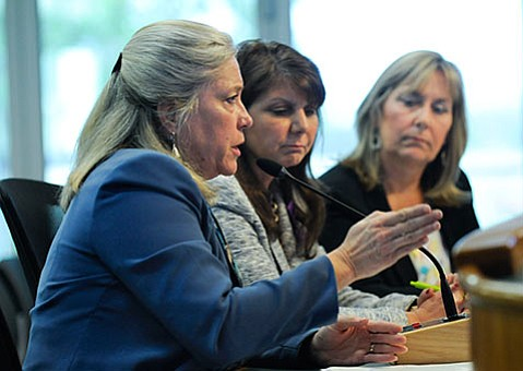 <strong>POINT PERSON:</strong> Dr. Alice Gleghorn, director of Santa Barbara County's Behavioral Wellness Department, discusses Laura's Law with the Board of Supervisors on May 10th, 2016.