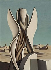 "American surrealist Kay Sage painted ""Second Song"" after traveling to Paris and marrying fellow artist Yves Tanguy."