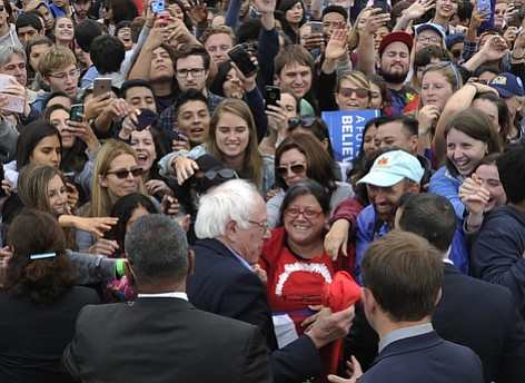 Bernie Sanders, who made a campaign pit stop in Santa Barbara in May, is now ahead in the balloting in the county.
