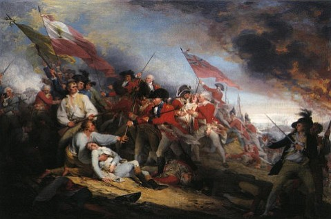 """The Death of General Warren at the Battle of Bunker's Hill, June 17, 1775,"" John Trumbull, dated 1834, Wadsworth Atheneum, Hartford, CT"