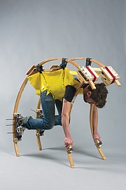 <b>TO BUILD A BETTER BEAST: </b> This early prototype was one of several unsuccessful attempts to create a maneuverable exoskeleton.